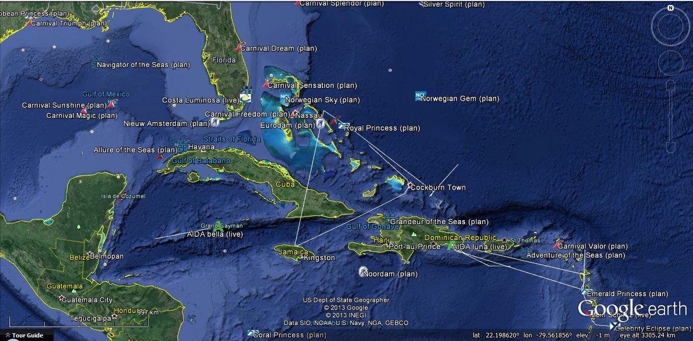 Google Traffic Map Florida.Marine Traffic Google Earth Marine Vessel Traffic