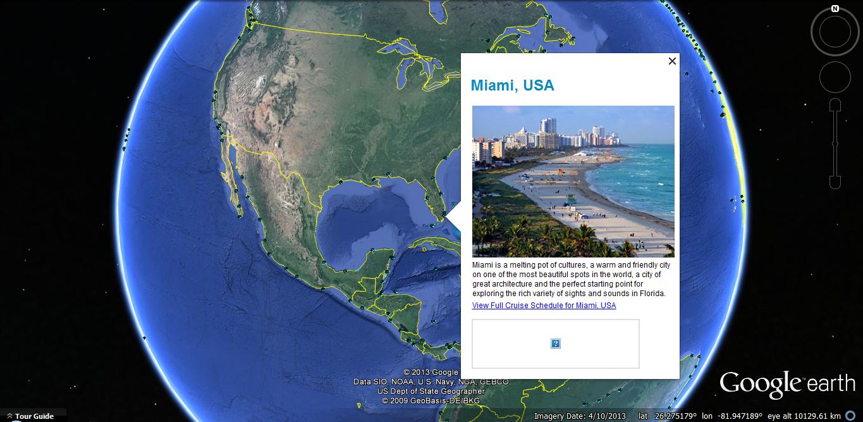 Cruise Ports on Google Earth | Marine Vessel Traffic