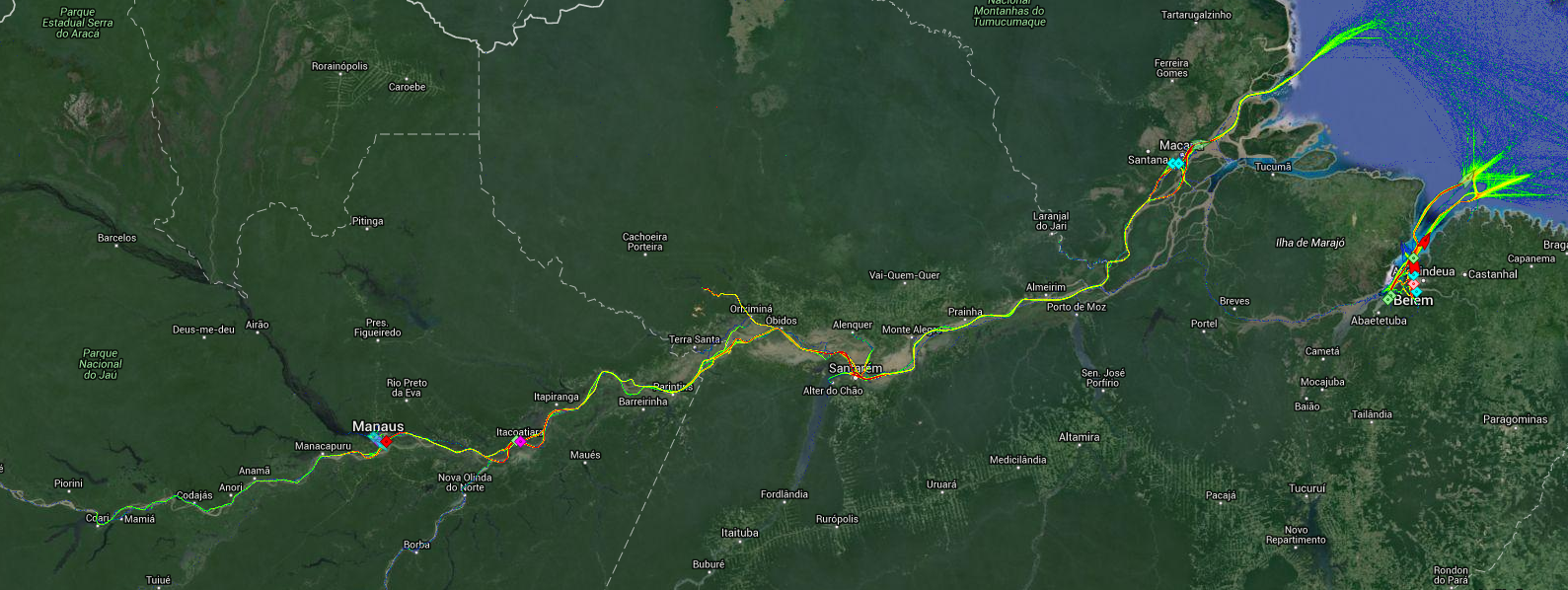 Live Marine Traffic, Density Map and Current Position of ships in AMAZON RIVER