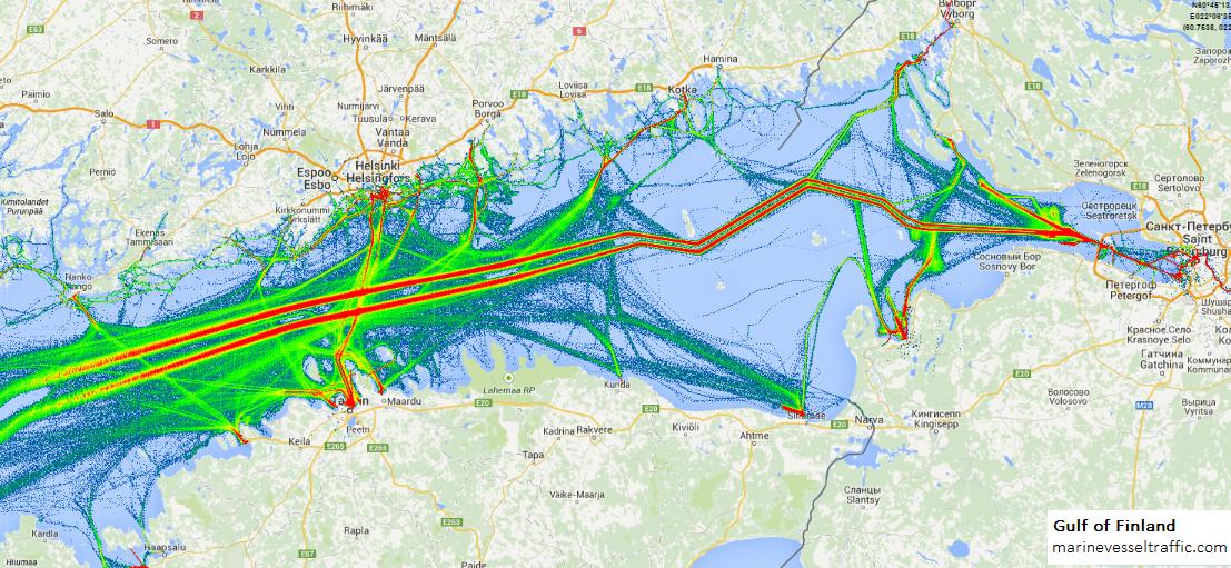 Ship Traffic Map.Gulf Of Finland Ship Traffic Live Map Marine Vessel Traffic