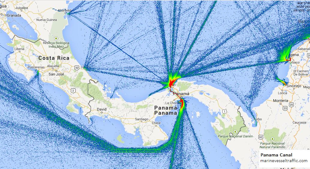 Ship Traffic Map.Panama Canal Ship Traffic Live Map Marine Vessel Traffic