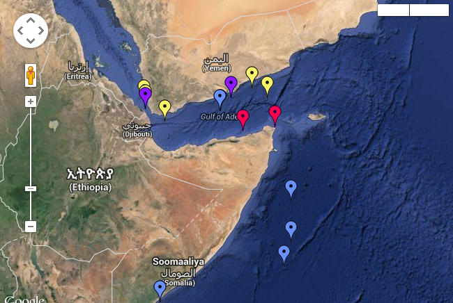 Piracy reported at Gulf of Aden