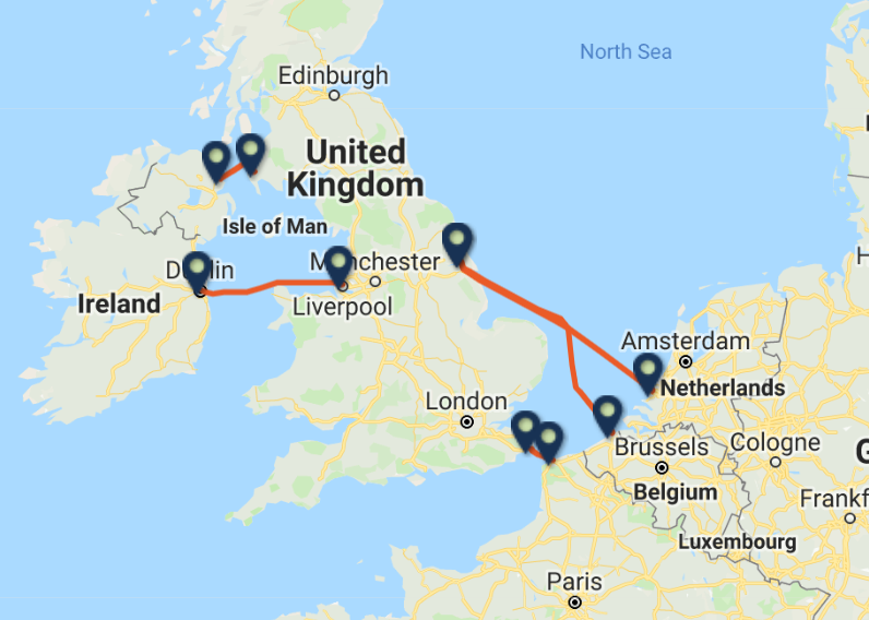 P&O FERRIES routes